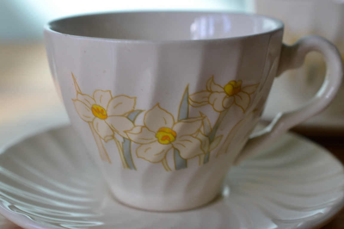Vintage Tea Cup And Saucer Australian Fine China Funky