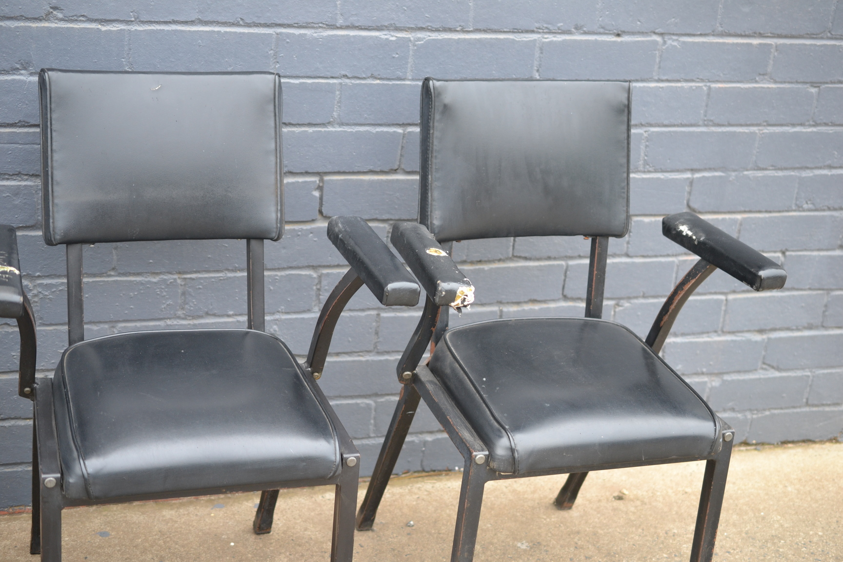 black dining kitchen chairs heavy metal arm chairs ebay