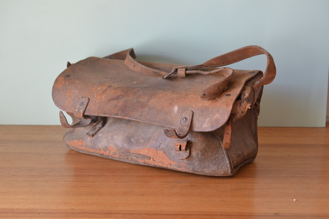 Antique Postmas Bag Leather Satchel Mail Bag