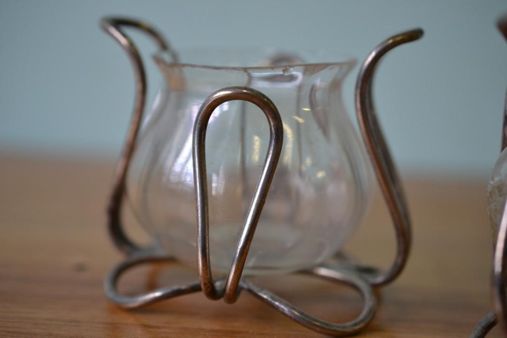 Vintage tea light candle holders