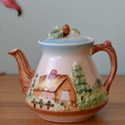 japanese ceramic teapot for a country house