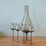 polish glass and decanter and glasses
