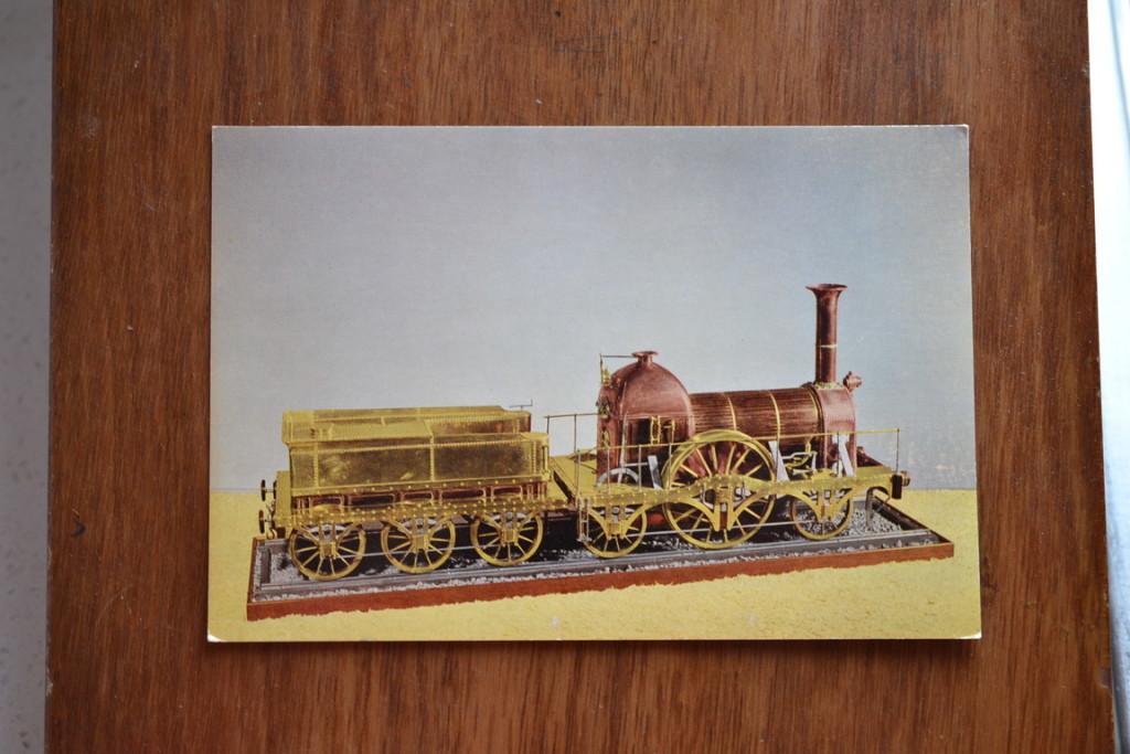 016Vintage Postcard 1965  Broad Gauge Locomotive 1840