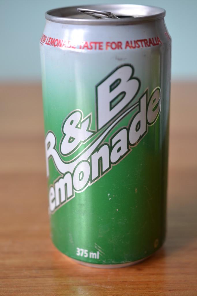 Vintage R & B lemonade can
