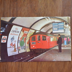 Vintage Postcard 1965 Piccadilly circus station London