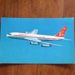 Vintage Postcard 1965 Qantas Empire Airways Boeing 707