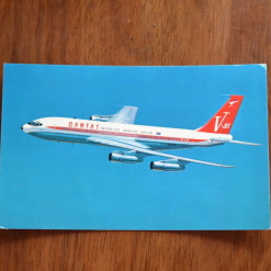 Vintage Postcard 1965 Qantas Empire Airways Boeing 707