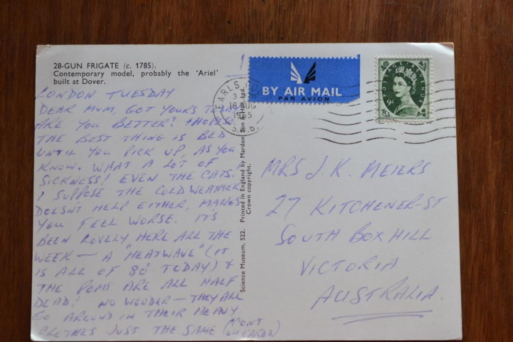Vintage Postcard 1965 28-Gun Frigate France