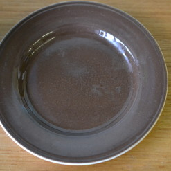 staffordshire ironstone ceramic plate brown