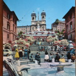 Vintage Postcard 1965 Roma Trinita dei Monti