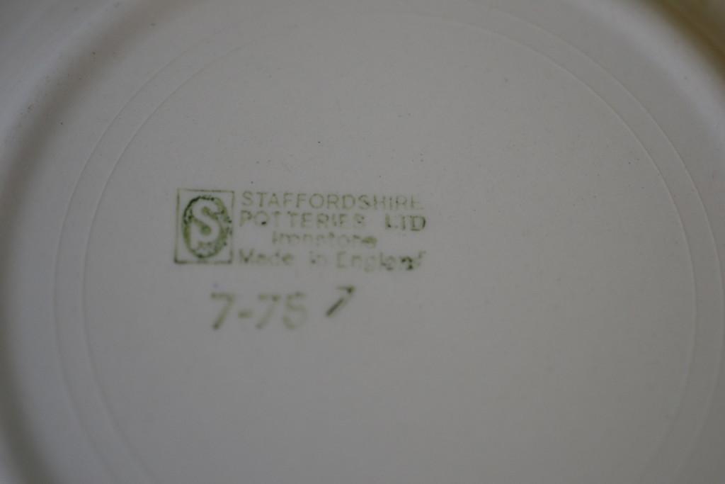 staffordshire ironstone ceramic plate brown