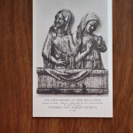 Vintage Postcard 1965 The two Maries at the Sepulchrf England