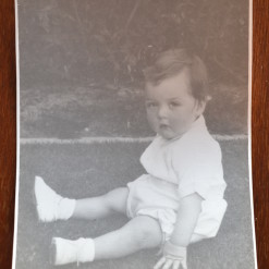 Vintage Black & White photo baby