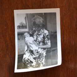 Vintage Black & White photo Gran and baby