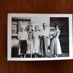 Vintage Black & White photo Family