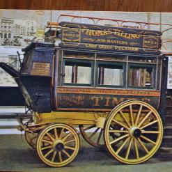 Vintage Postcard 1965 Knife board horse Omnibus Thomas Tilling London