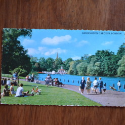 Vintage Postcard 1965 Kenstington Gardens London
