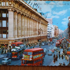 Vintage Postcard 1965 Selfridges in Oxford St, London
