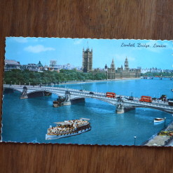 Vintage Postcard 1965 Lambeth Bridge, London