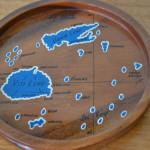 Vintage mid century wooden drinks tray Fiji Islands