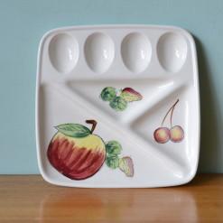 Mid century ceramic dinner serving tray