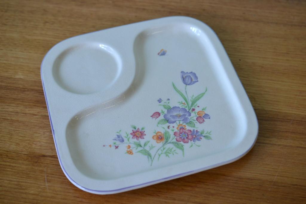 Mid century ceramic fruit platter Japan