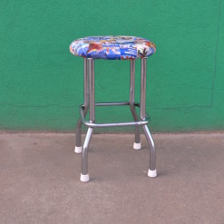 Vintage small stool re purposed Bathing girls French Riviera Art Deco style