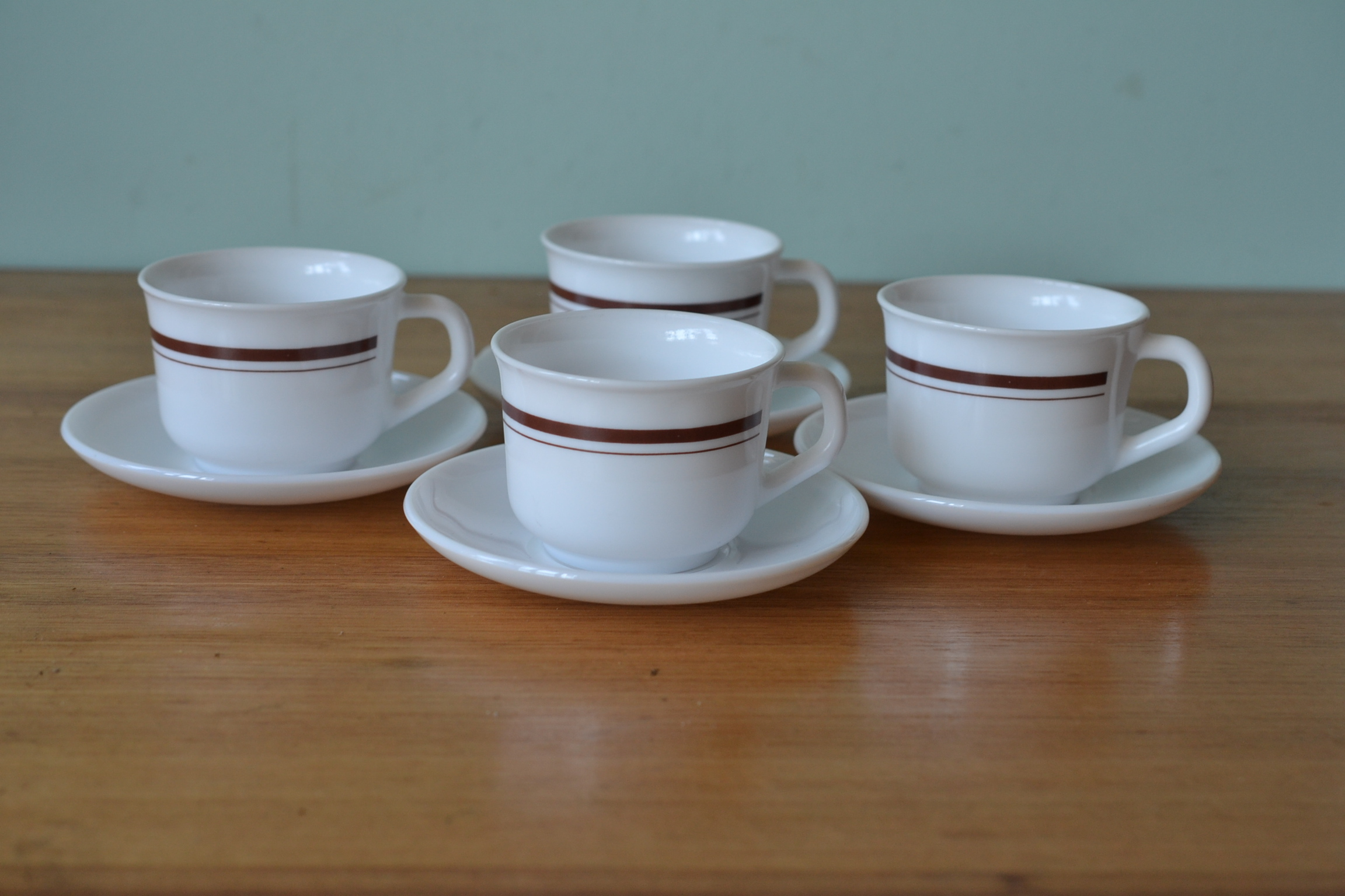Vintage acropal set teacups coffee cups saucers made in france funky flamingo - Funky espresso cups ...