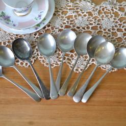Vintage 9 x Soup spoons EPNS A1 : Lot 1B
