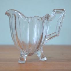 Vintage jug Art Deco cut glass glassware creamer / milk