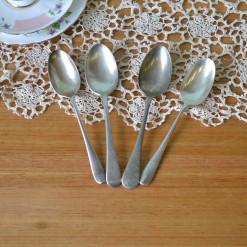Vintage 4 x Dessert spoons EPNS A1 : Lot 6