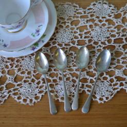 Vintage 4 x teaspoons EPNS A1 : Lot 8