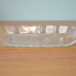 Art deco cut glass dish serving nibbles tray tableware