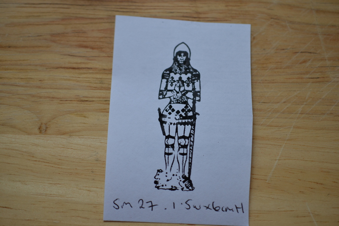 Vintage Wooden Rubber Ink Stamp Knight Gothic Sm27 No 653