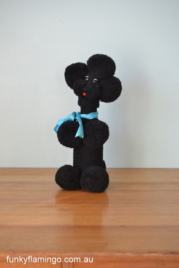 Vintage Original Pye Eyed Black Poodle Bottle Cover