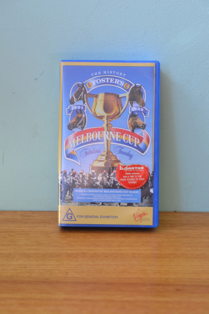 VHS tape Melbourne Cup 1988 Fosters the history 1861 to 1988