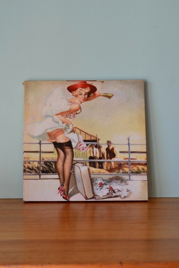 Vintage Pin up girl with Red hat Canvas  3195