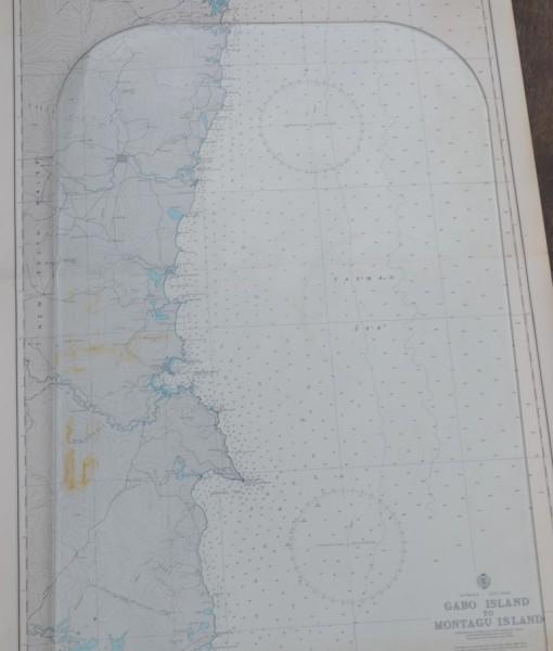 Vintage map Gabbo Island to Montagu Island Original 1961