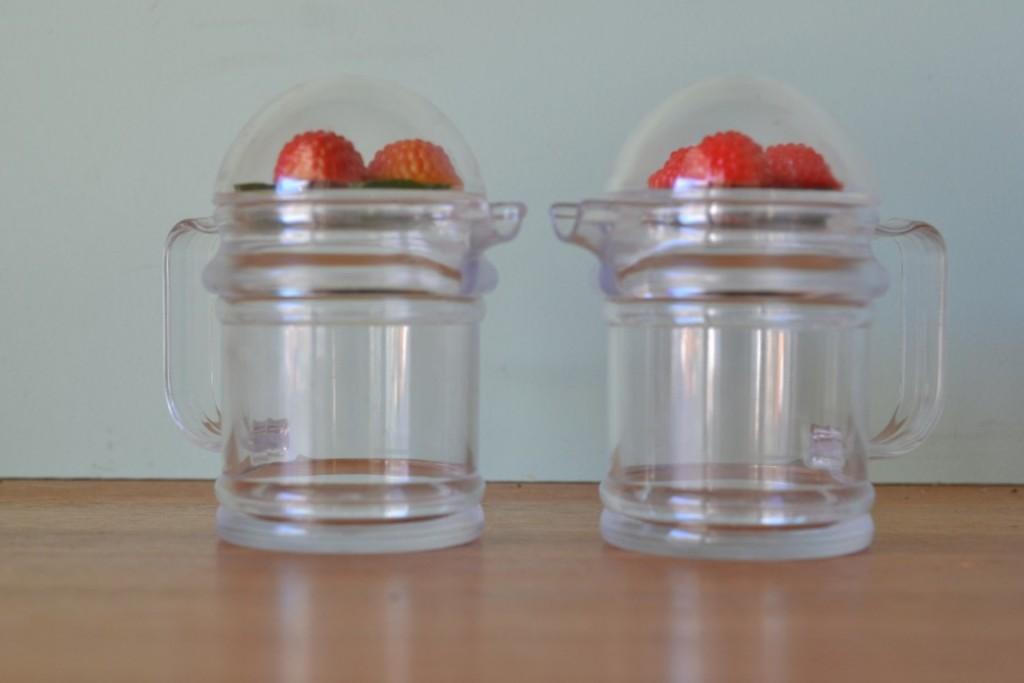 Vintage bottles condiment pourers strawberries  No 712