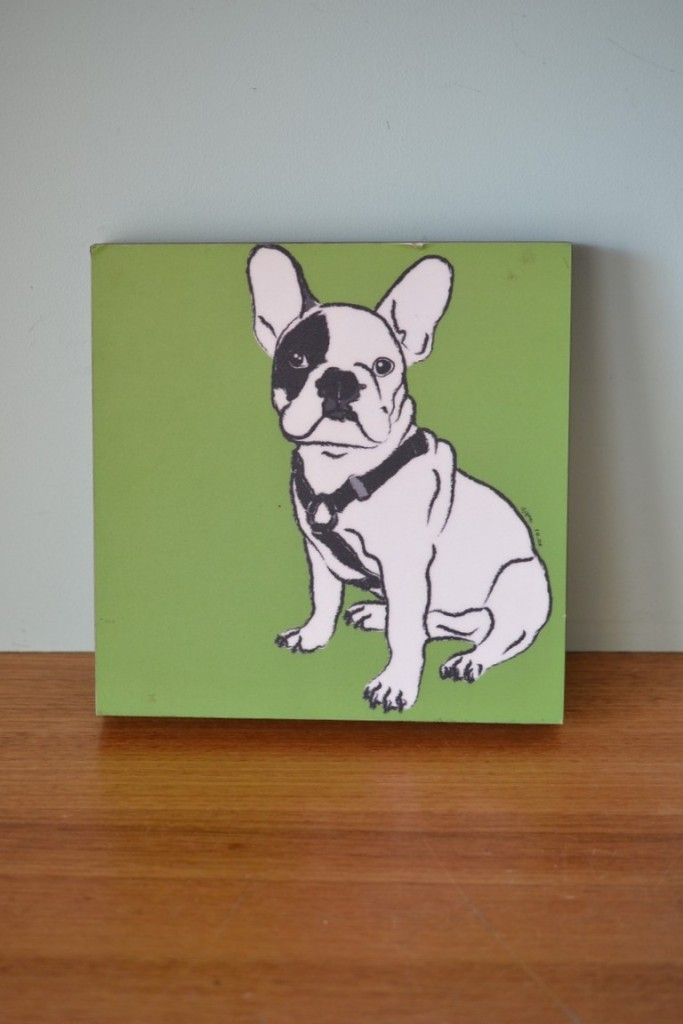 French Bull dog laminated picture 2006 wall art No 866