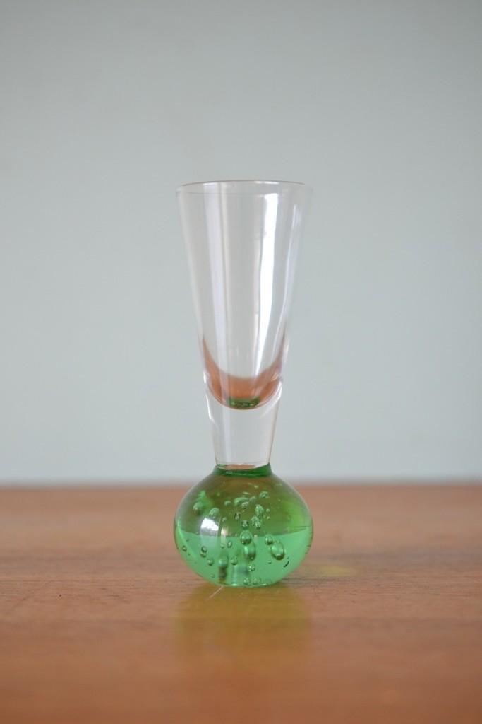 Vintage green vase / shot glass retro