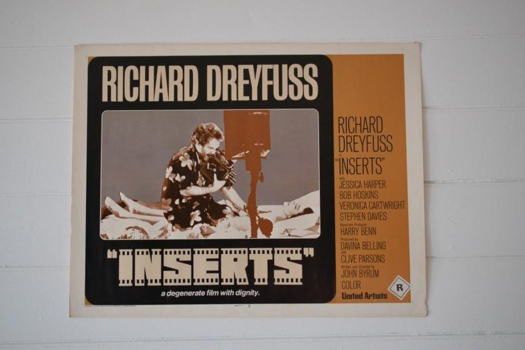 Vintage half sheet Movie Poster Inserts Richard Dreyfuss
