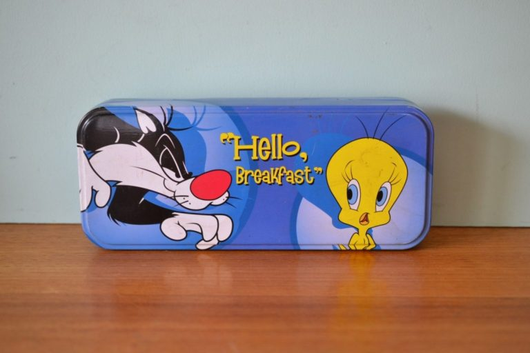 Vintage Sylvester and Tweety pencil case 1990s