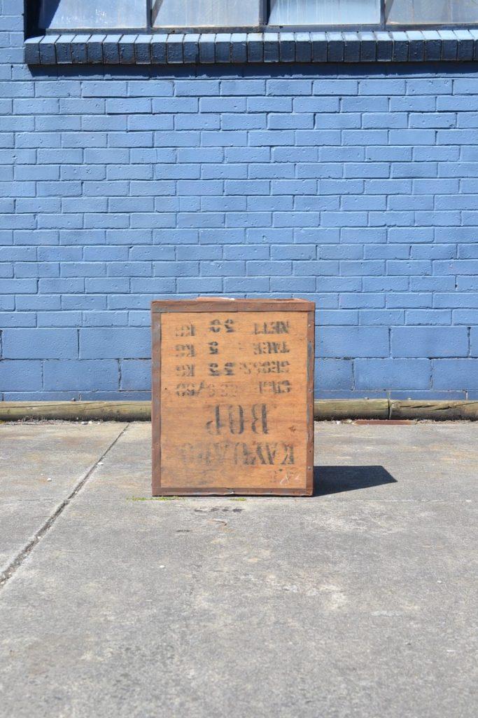Vintage  Tea chest pot plant storage