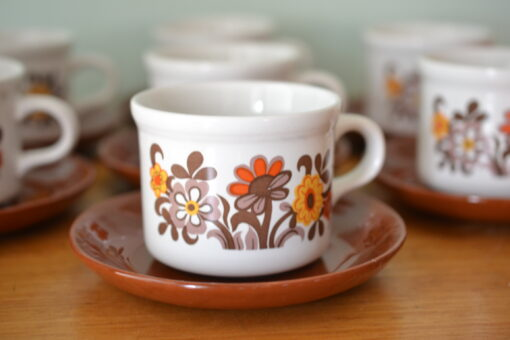Vintage 1 x Staffordshire duo tea cup / coffee cup Table Tops Cartwrights ot10