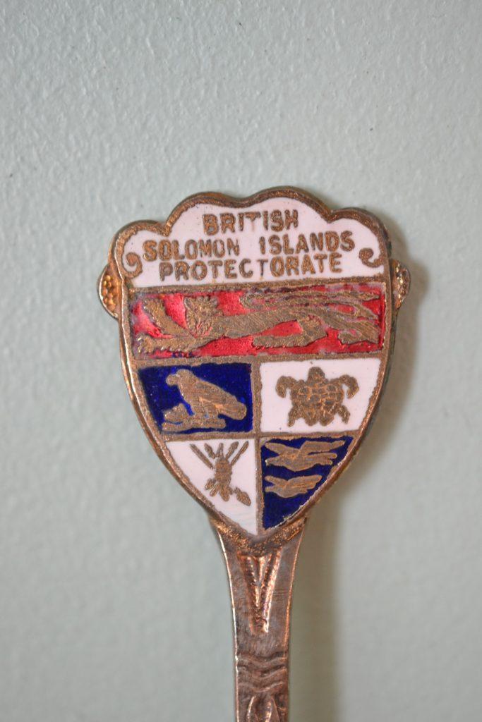 Vintage  teaspoon British Salomom Islands Protectorate melb