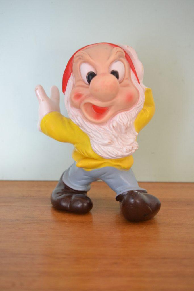Vintage Walt Disney productions plastic squeeze toy Snow white & the 7 dwarfs