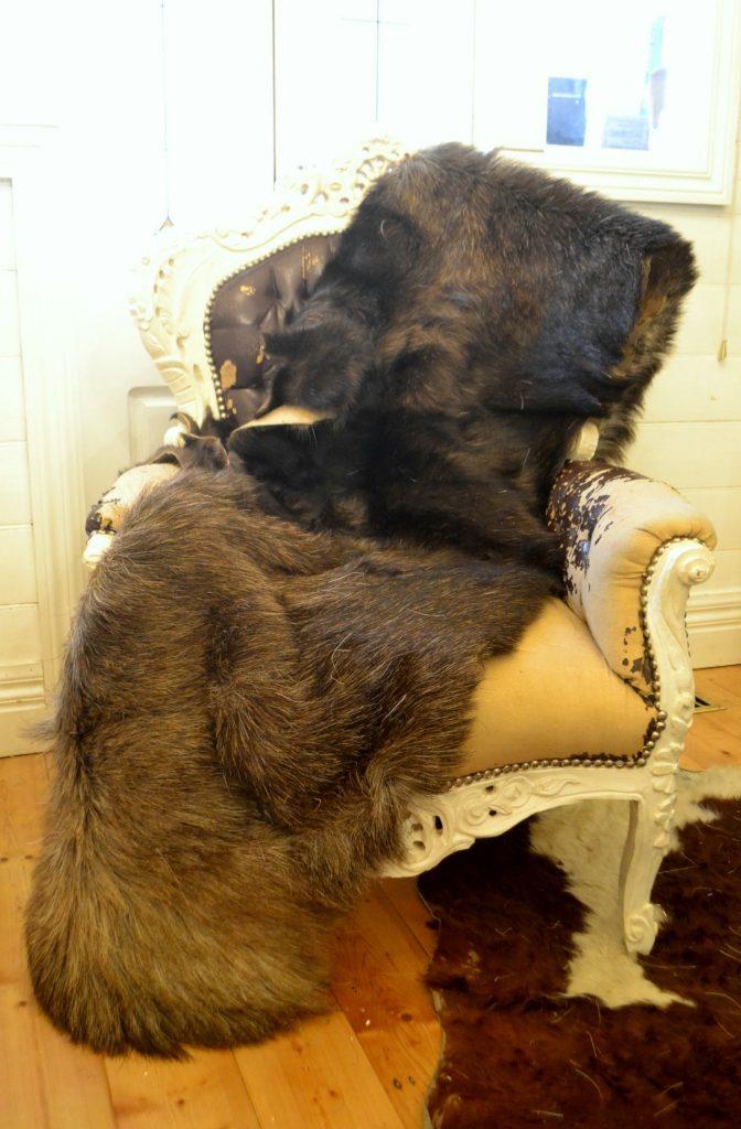 vintage fur pelt