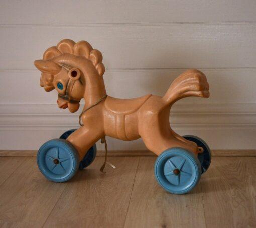 Vintage plastic toy ride on pony  horse mid century
