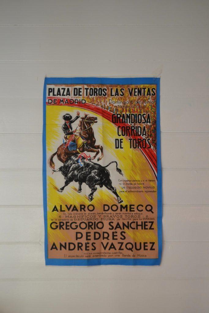 Vintage Tea Towel Matador bull fight Plaza De Torors Las Ventas